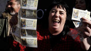 Laura celebra el segundo premio de la Lotería del Niño 2021