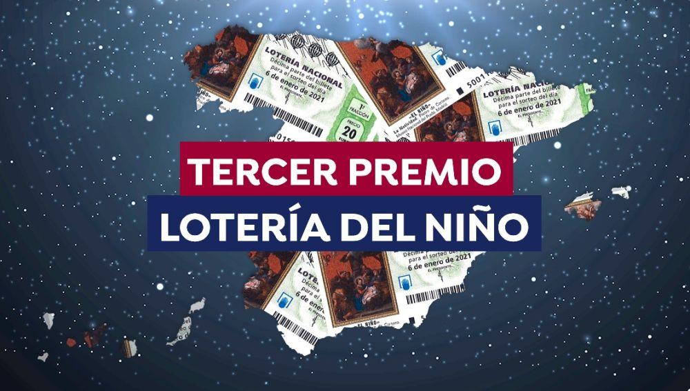 Lotería del Niño 2021: ¿Dónde ha caído el tercer premio del sorteo de hoy?