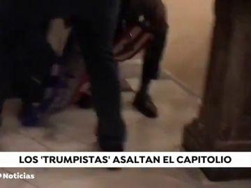 Una mujer, en estado crítico tras recibir un impacto de bala en el asalto al Capitolio de EEUU