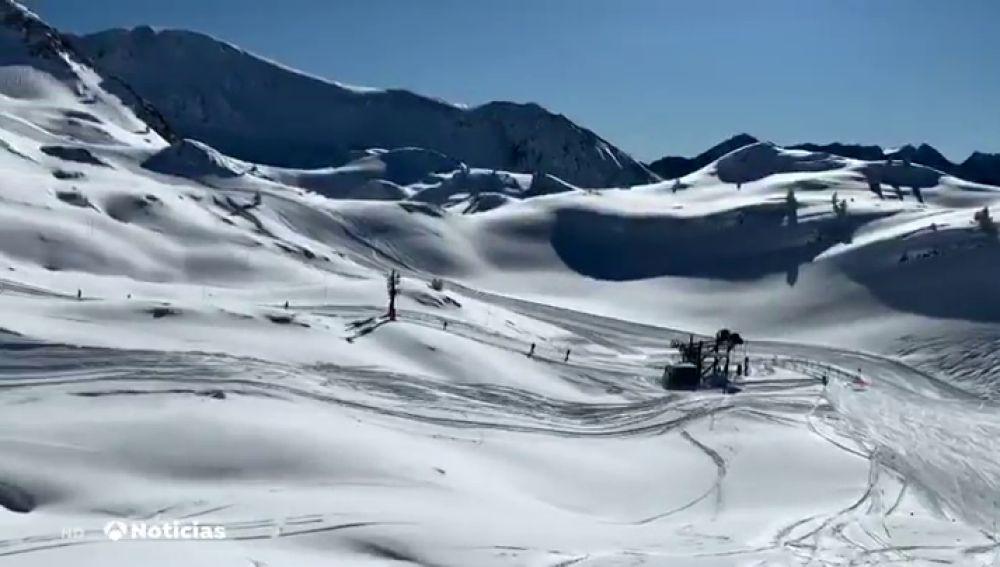La estación de Baqueira Beret en el Pirineo catalán registra una mínima de 34,1 bajo cero, récord histórico de frío en la península
