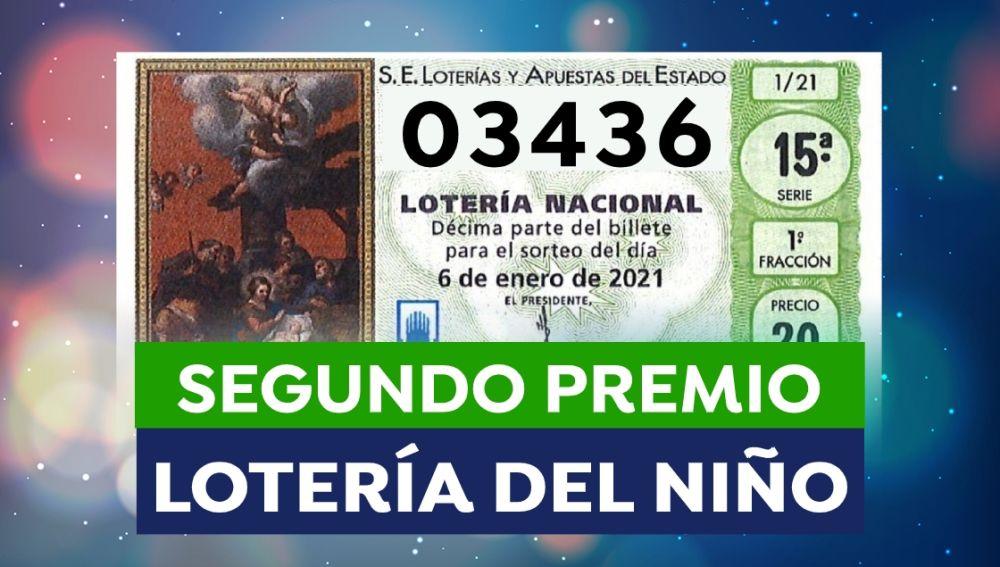 Lotería del Niño 2021: 03436, segundo premio del Sorteo del Niño