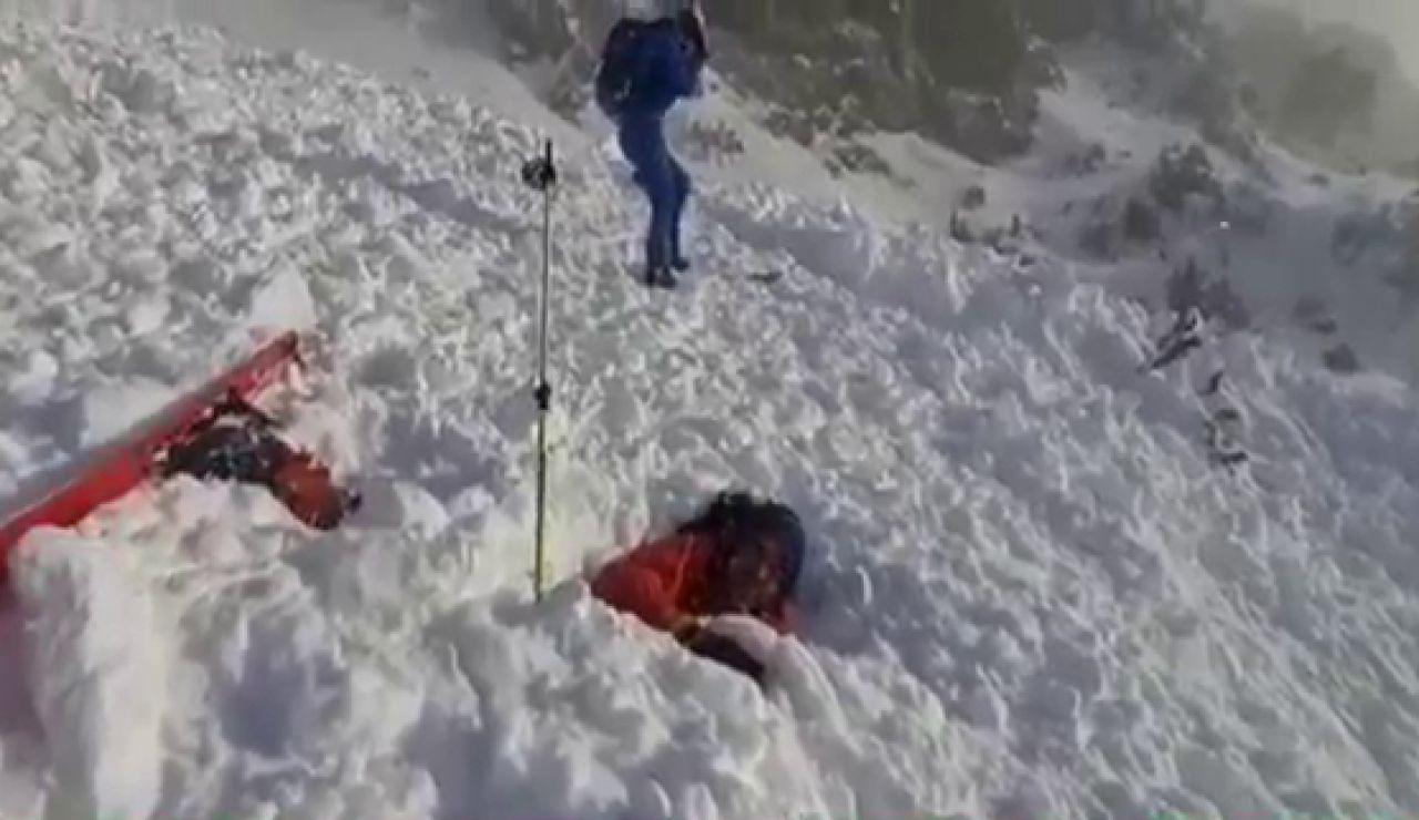"""Un alud de nieve sepulta a varios montañeros en La Collarada (Huesca): """"Nos pasamos de frenada"""""""