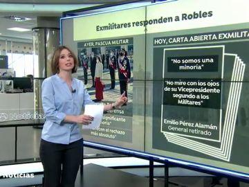 """Militares retirados piden a Margarita Robles un """"giro al timón"""" en el Gobierno por medio de una carta"""