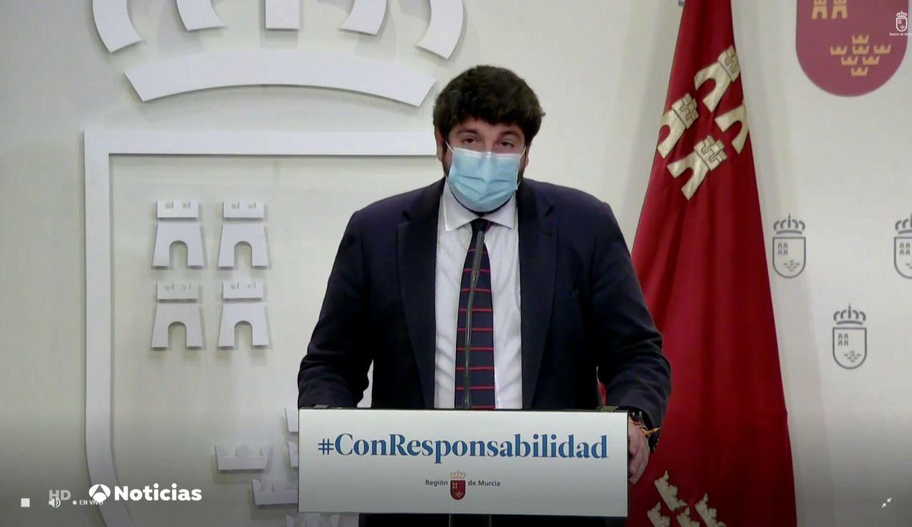 El presidente murciano, Fernando López Miras