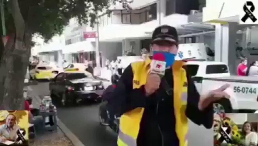 Un periodista colombiano anuncia en directo la muerte de su mujer, enfermera, al contagiarse de coronavirus
