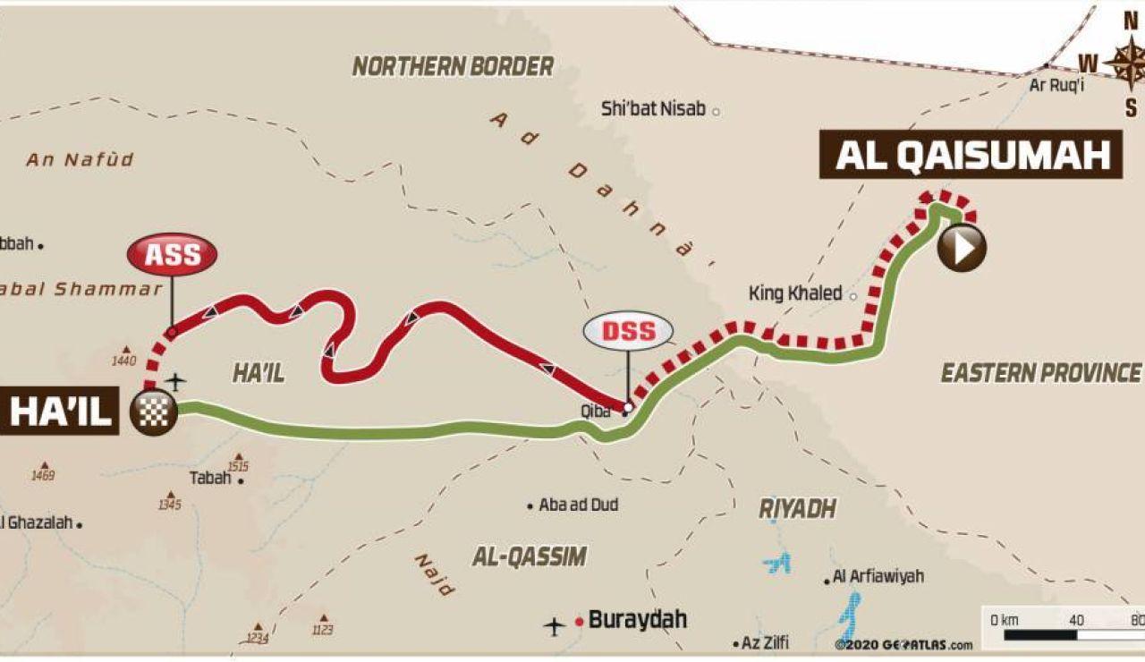 Rally Dakar 2021: Recorrido de la etapa 6 hoy, viernes 8 de enero, Al Qaisumah - Ha'il