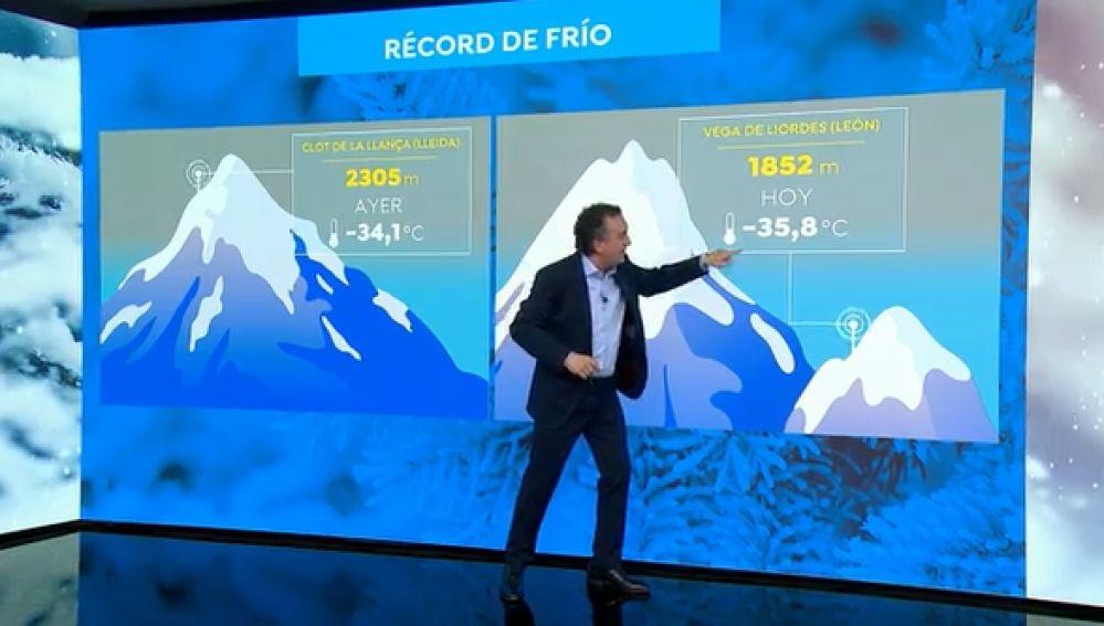 Piscinas aire frio, record temperaturas bajo cero