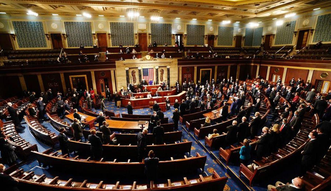 Sesión del Congreso de EEUU para ratificar la elección de Joe Biden