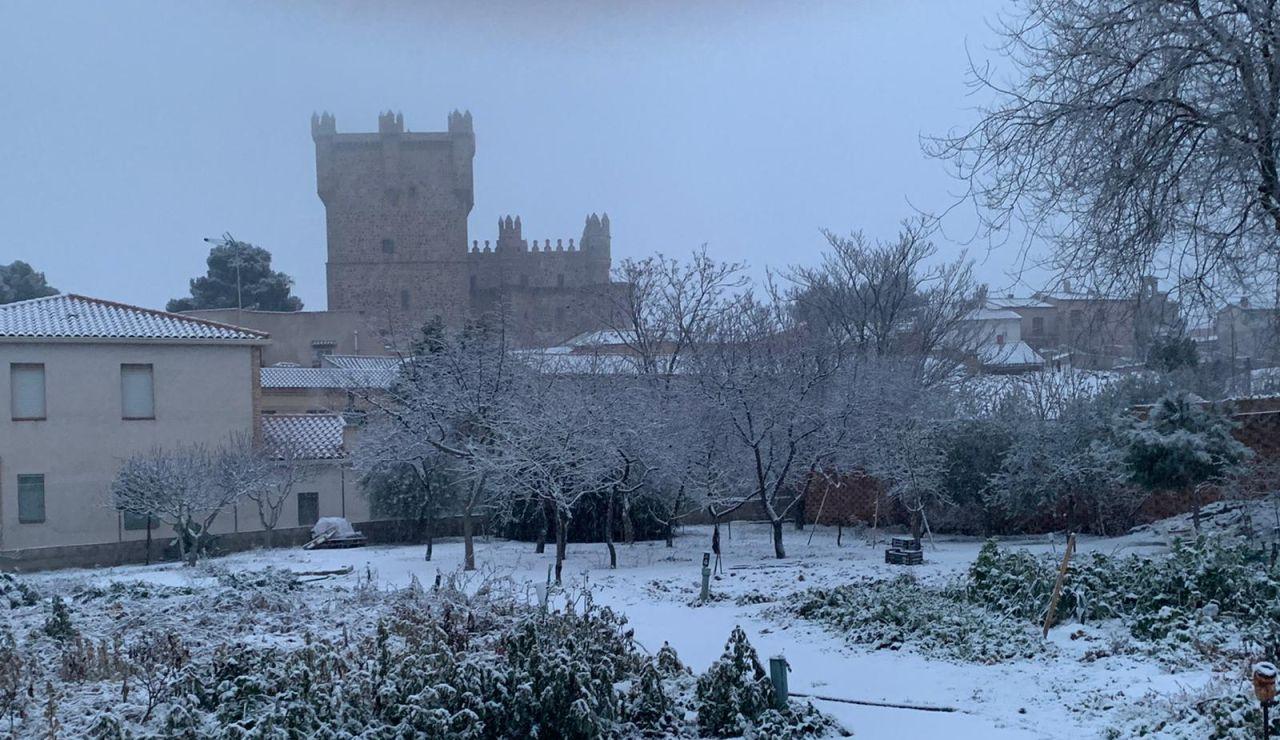 Toledo pide ayuda a la UME por la fuerte nevada que ha dejado la borrasca Filomena