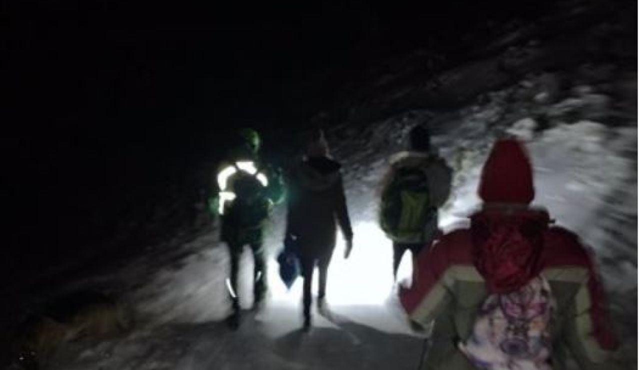 Jóvenes rescatados Sierra Madrid