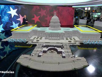 Vicente Vallés explica el asalto al Congreso de los Estados Unidos a través de la realidad aumentada
