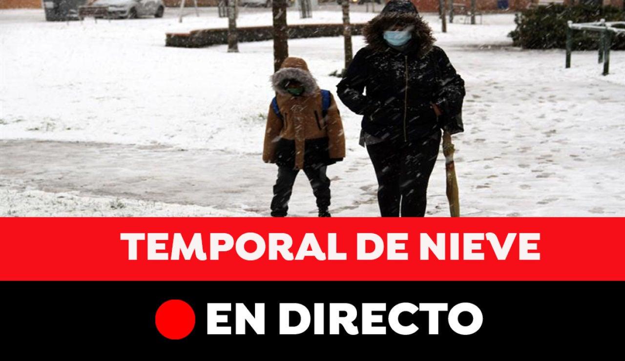Nieve en España hoy: Carreteras cortadas, transporte y última hora del temporal y la ola de frío, en directo