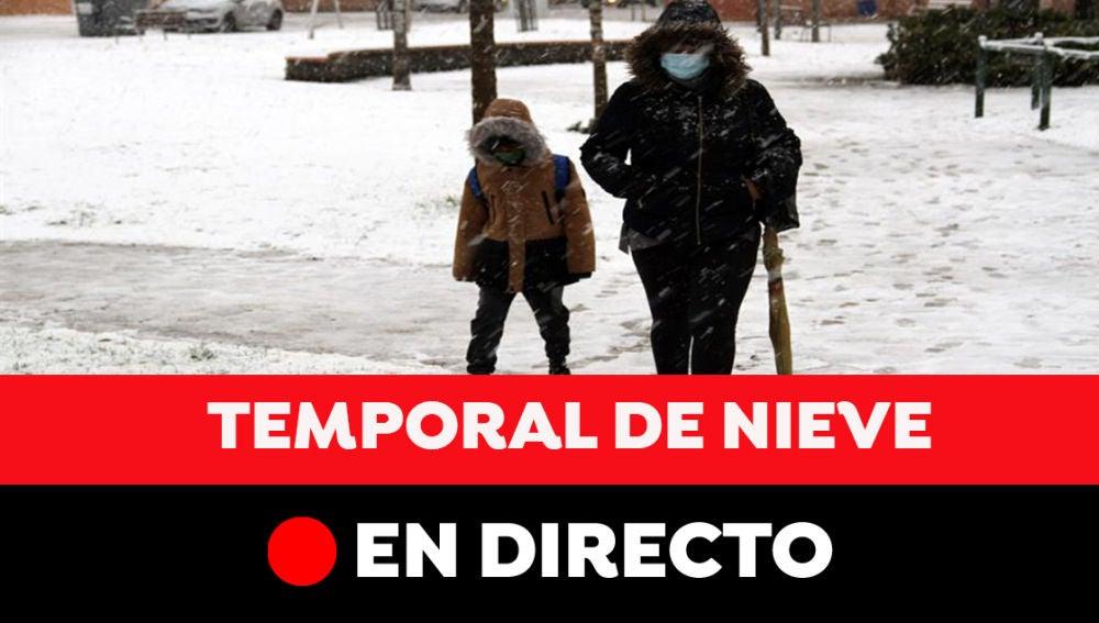 Temporal de nieve en España, en directo