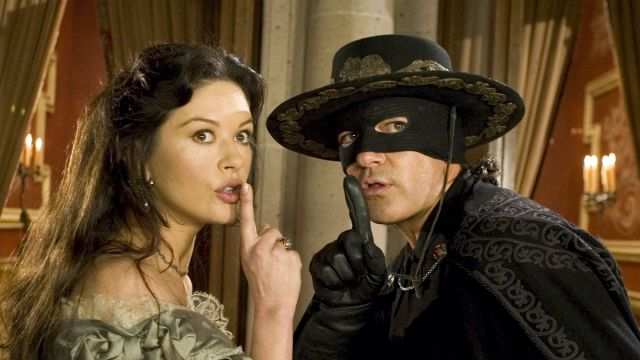 Catherine Zeta-Jones y Antonio Banderas en 'El Zorro'