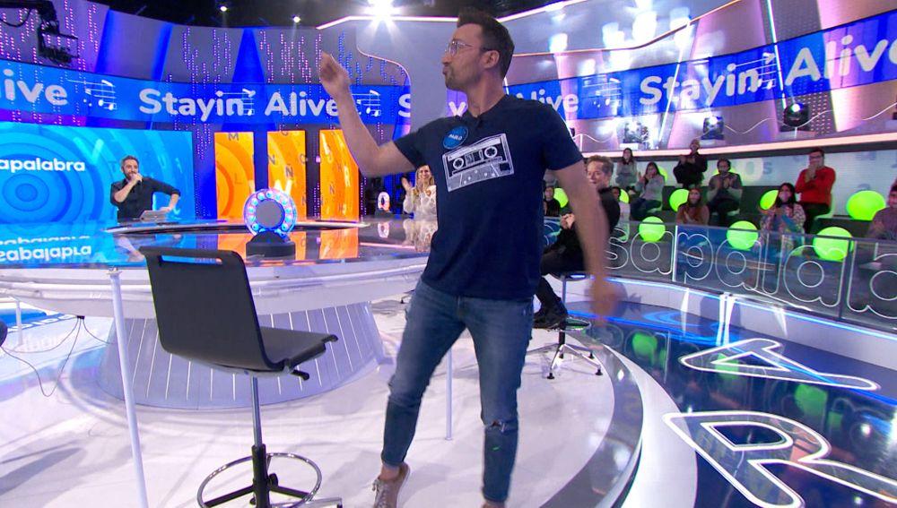 ¡Al ritmo de Stayin' Alive!: Pablo Puyol consigue un pleno para el equipo azul en 'La Pista'