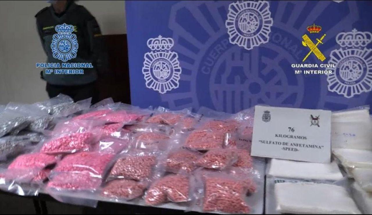 Once detenidos en el mayor golpe al tráfico de drogas sintéticas en España