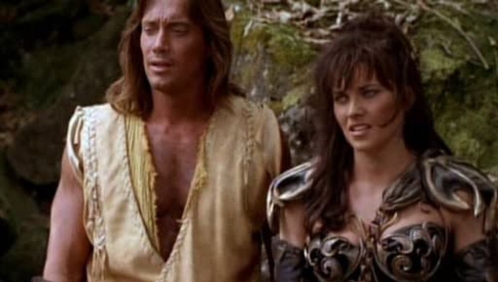 Kevin Sorbo y Lucy Lawless