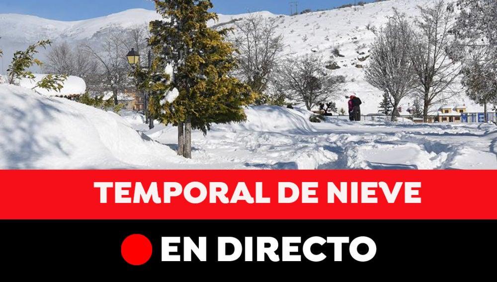 Última hora del temporal de nieve en España, en directo