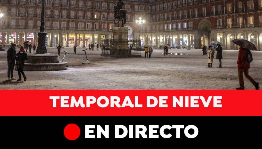 Temporal Filomena en España hoy: Gran nevada, carreteras cortadas y última hora, en directo