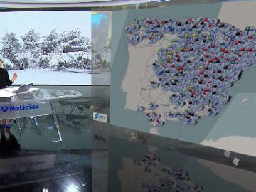 Consulta en este mapa todas las incidencias en las carreteras a causa del temporal Filomena