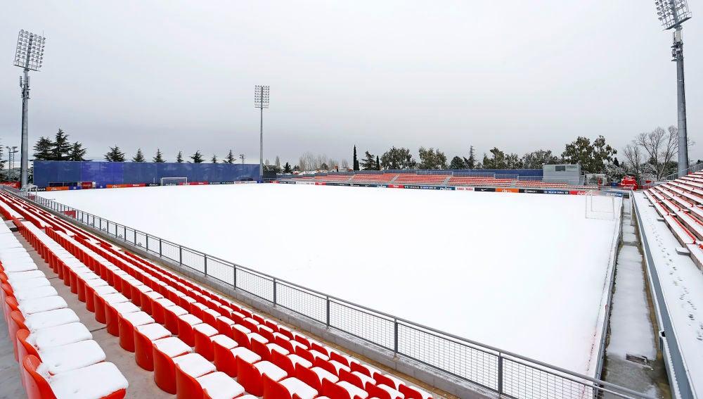 El Atlético - Athletic de Liga, aplazado por el temporal de nieve de Filomena en Madrid