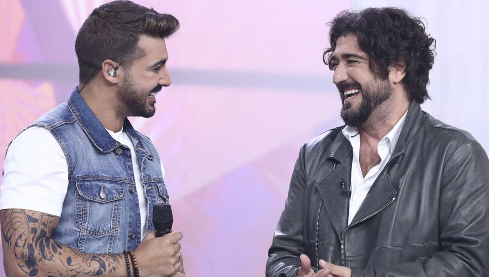 Jorge González y Antonio Orozco en la final de 'Tu cara me suena'