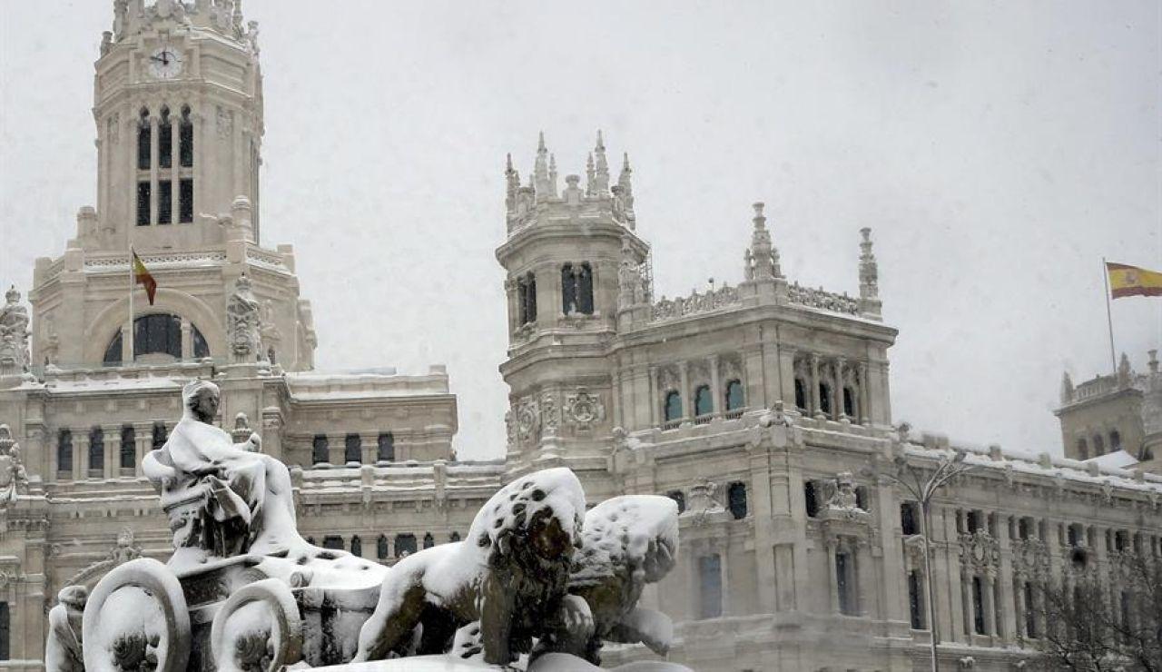 Vista de la Plaza de la Cibeles de Madrid