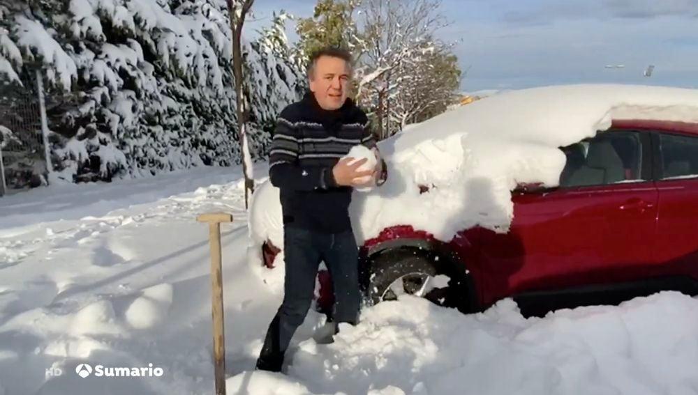 Roberto brasero explica cómo limpiar la nieve del coche y terrazas antes de convertirse en hielo