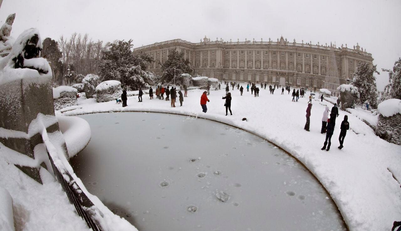 Situación del Palacio de Oriente en Madrid