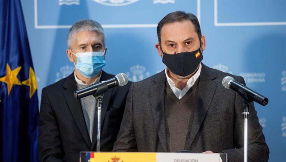 Grande-Marlaska y José Luis Ábalos