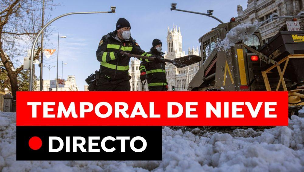 Temporal de nieve en España hoy: Estado de las carreteras, carreteras cortadas y última hora, en directo