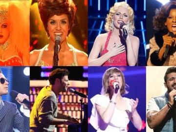 Los ocho ganadores de 'Tu cara me suena': así fueron sus inolvidables actuaciones en la final