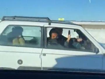 El surrealista vídeo de varios jugadores del Atlético de Madrid yendo a entrenar en un Fiat Panda en pleno temporal