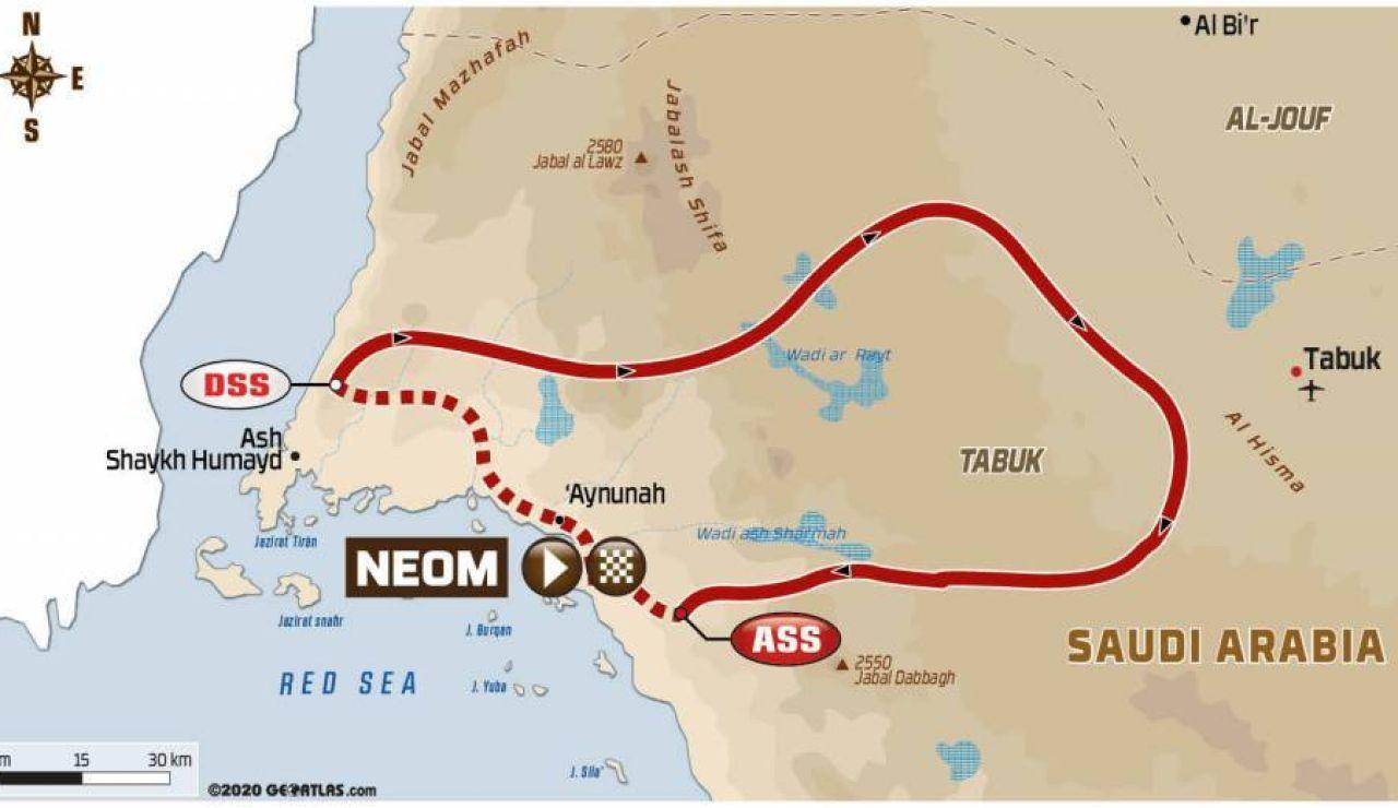 Rally Dakar 2021: Recorrido de la etapa 9 hoy, martes 12 de enero, Neom - Neom