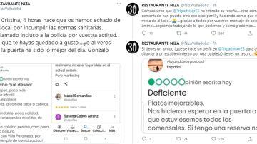 La respuesta viral del restaurante Niza a un cliente