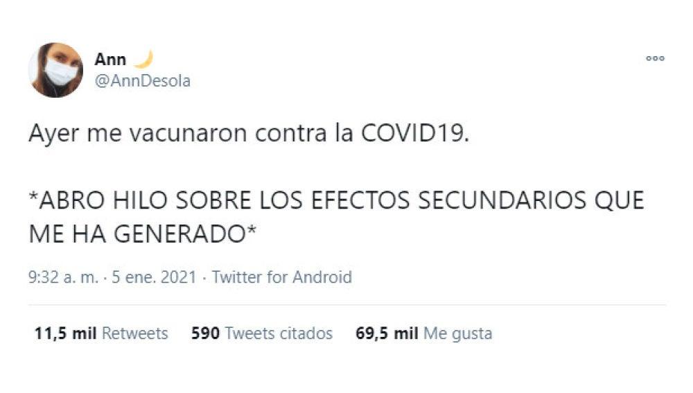 Tuit de @AnnDesola