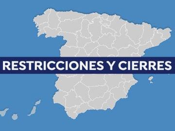 Mapa de restricciones, cierres y medidas contra el coronavirus en España hoy
