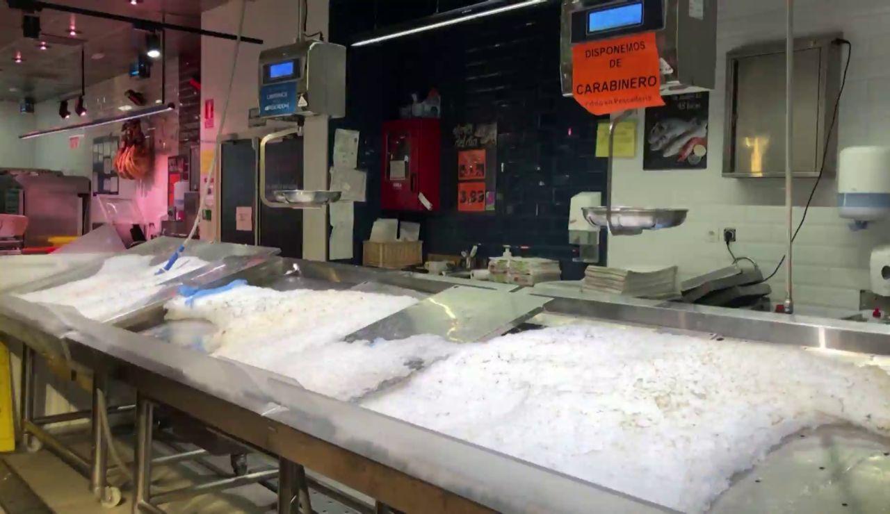 Supermercados sin productos frescos por el temporal