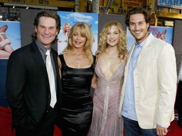 La familia de Kurt Russell, Goldie Hawn, Kate Hudson y Oliver Hudson
