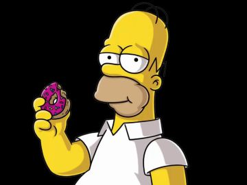 Homer Simpson y una rosquilla