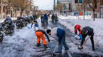 Nieve y hielo en carretera por Filomena
