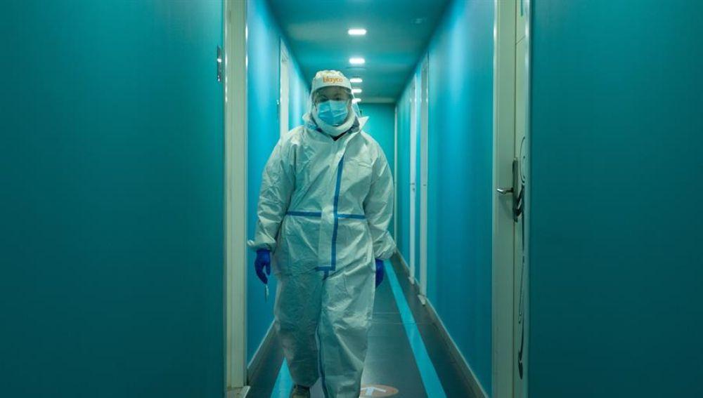 Sanitaria equipada para atender a enfermos de coronavirus