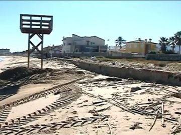 Playas afectadas por el temporal