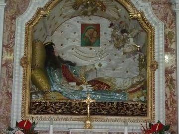 Urna con el Santo Cuerpo de Santa Filomena en Mugnano del Cardinale
