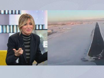 Susanna Griso cuenta su incidente durante un vuelo
