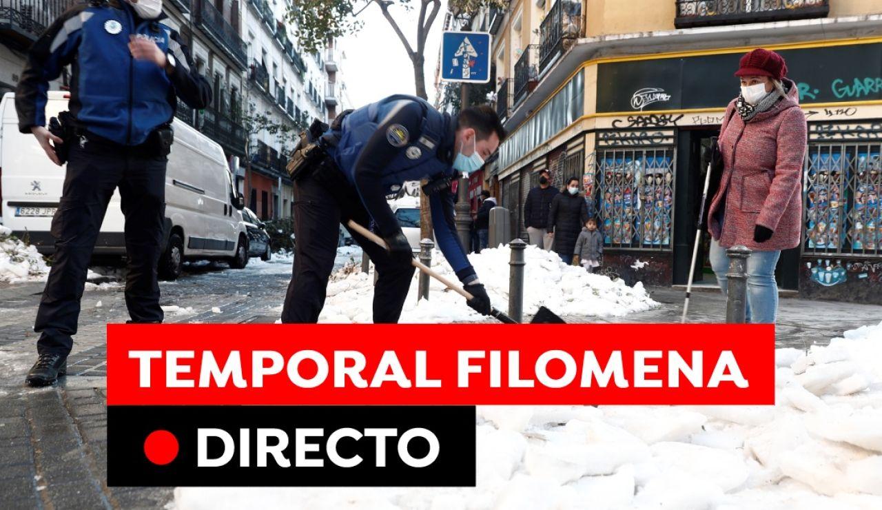Temporal de nieve, ola de frío y carreteras cortadas en España hoy, en directo