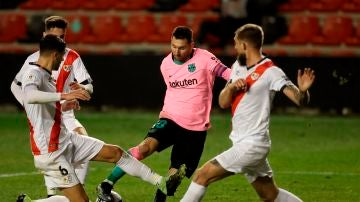 Leo Messi, ante el Rayo