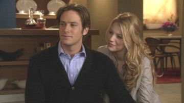 Armie Hammer y Blake Lively en 'Gossip Girl'