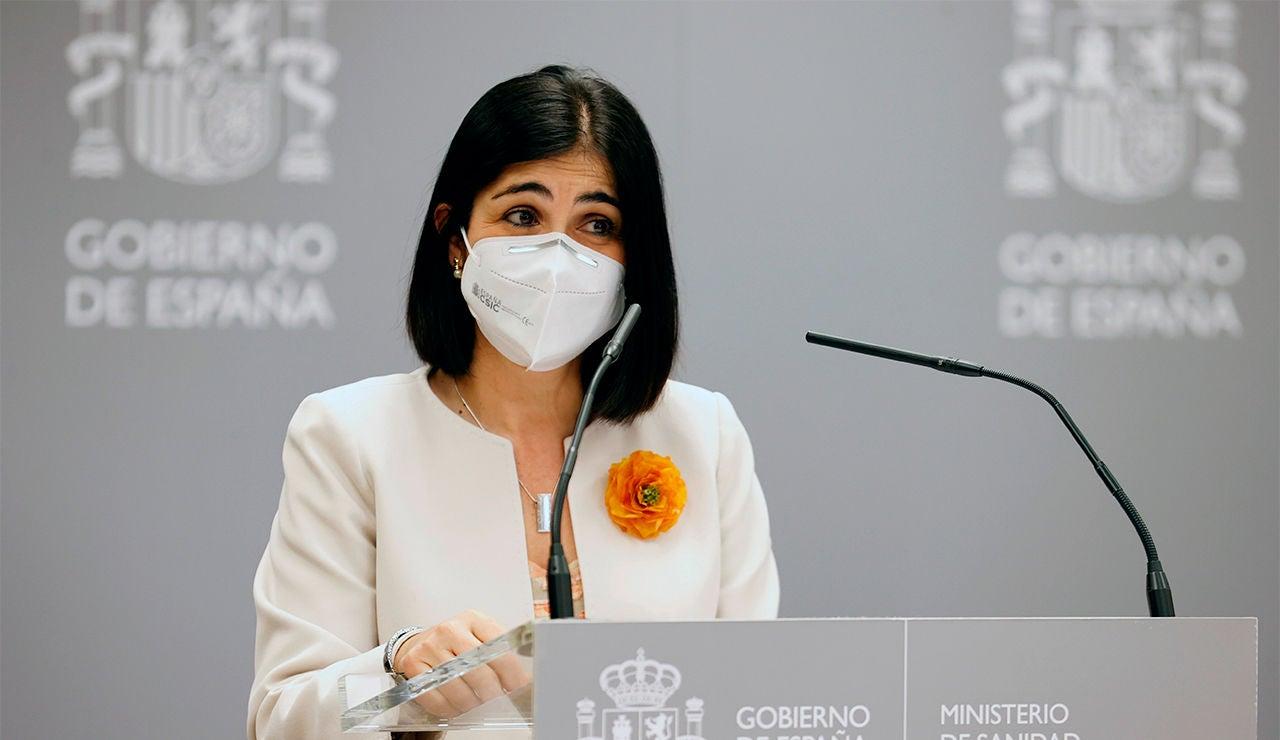 Carolina Darias, durante su toma de posesión como ministra de Sanidad
