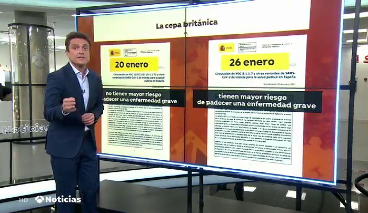 Sanidad cambia de criterio y afirma que la cepa británica puede tener un impacto muy alto en España